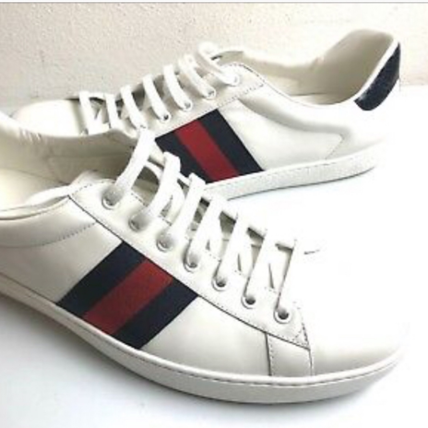 Gucci Ace Blue And Red Stripes