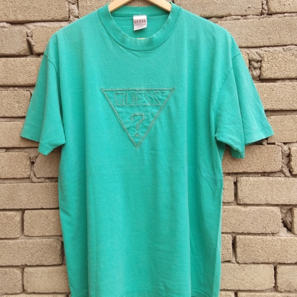 Guess T Shirt Vintage 90S Embroidery Big Logo