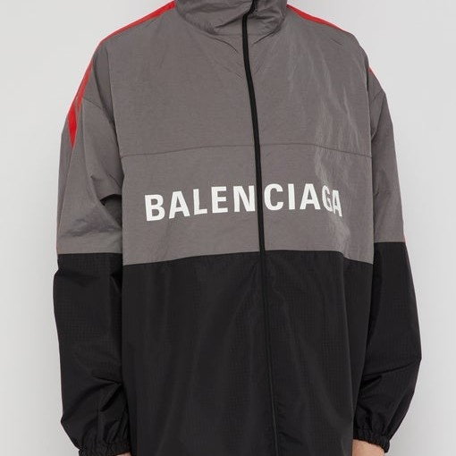 Balenciaga Zip Up Logo Track Jacket