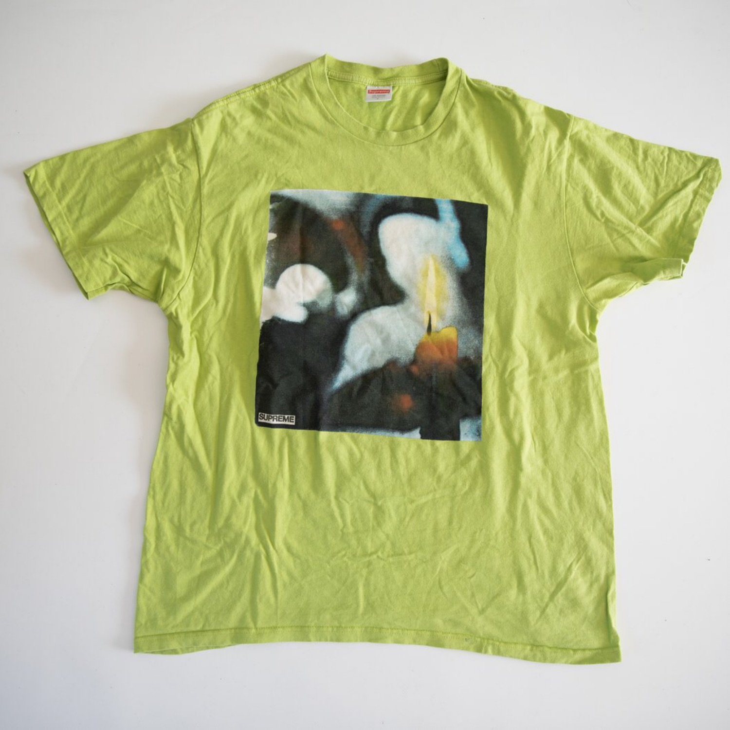 Supreme Candle Tee Green (Used - Large)