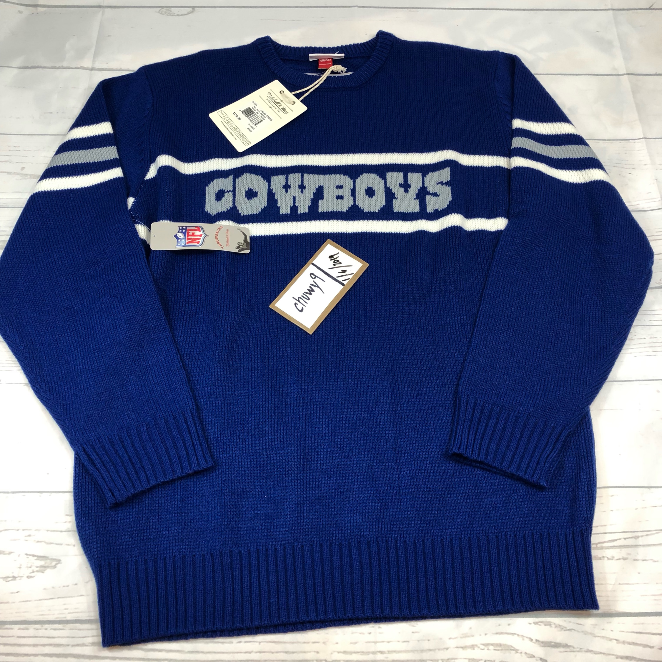 big sale cb07b d91c7 New Xl Mens Mitchell Ness Dallas Cowboys Sweater