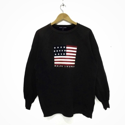 Vtg Polo Sport Ralph Lauren Flag Crewneck Sweats