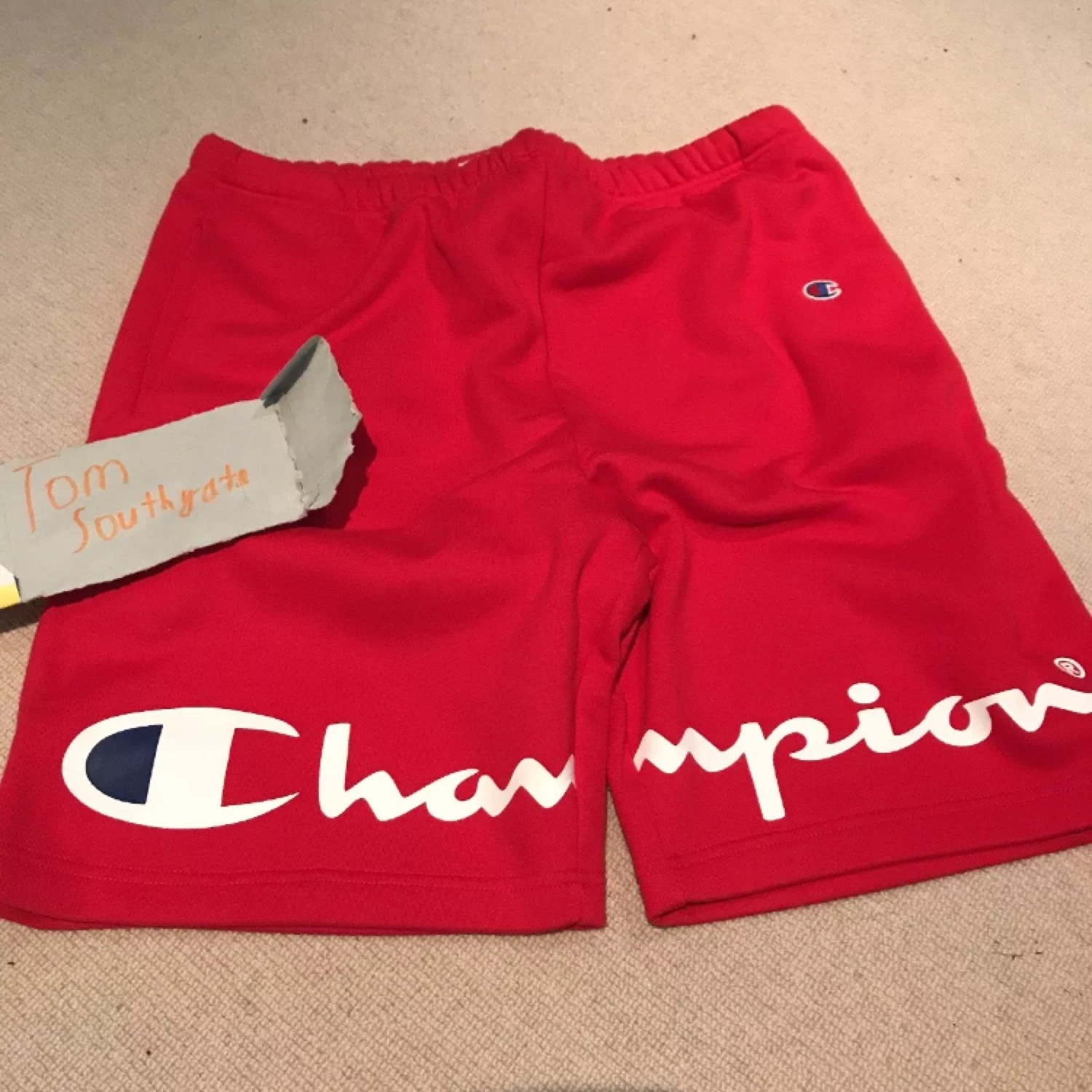 c92a97a21e22 Supreme Champion Shorts Red Large