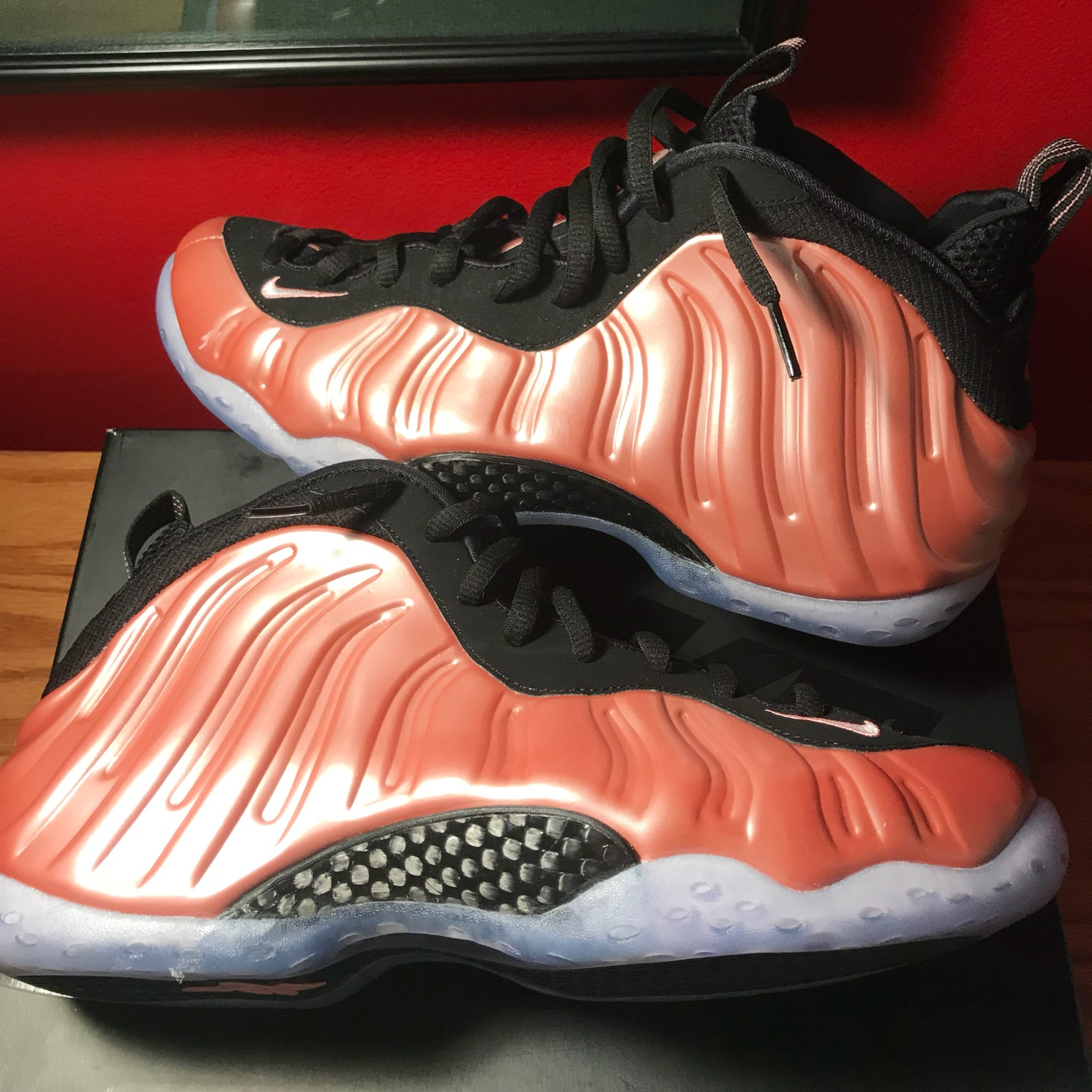 half off 5e553 f3837 Nike Air Foamposite One Rust Pink Size 10.5