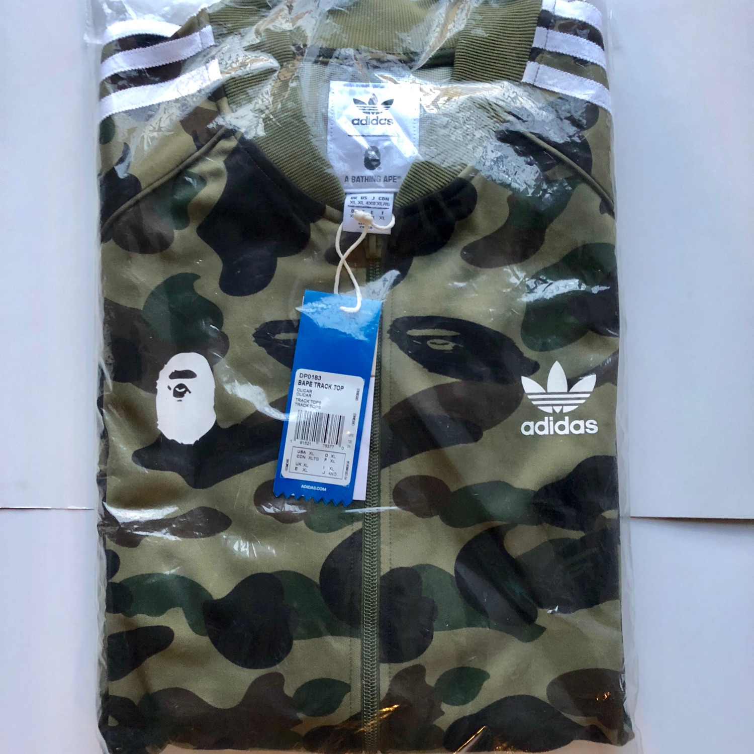 new arrival 68817 31ac5 Bape X Adidas Track Suit Jacket Green Olive Camo X