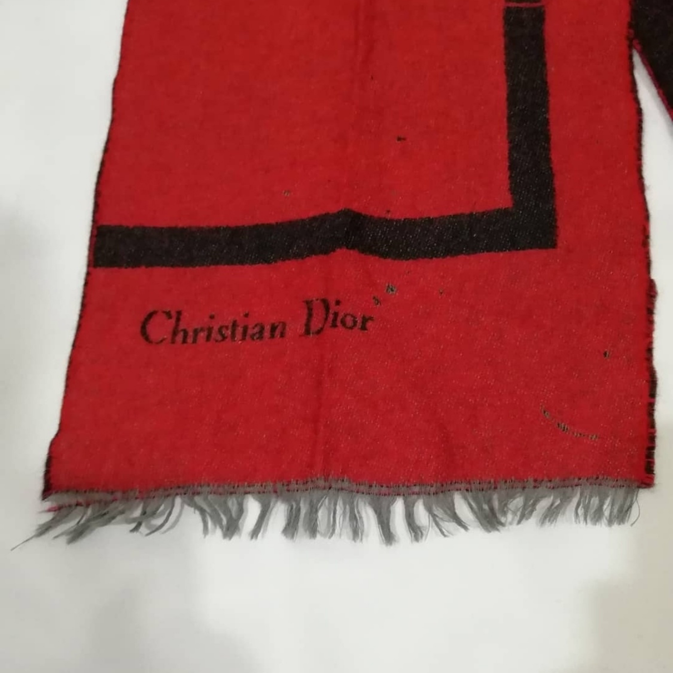 Vintage Christian Dior Scarf Red