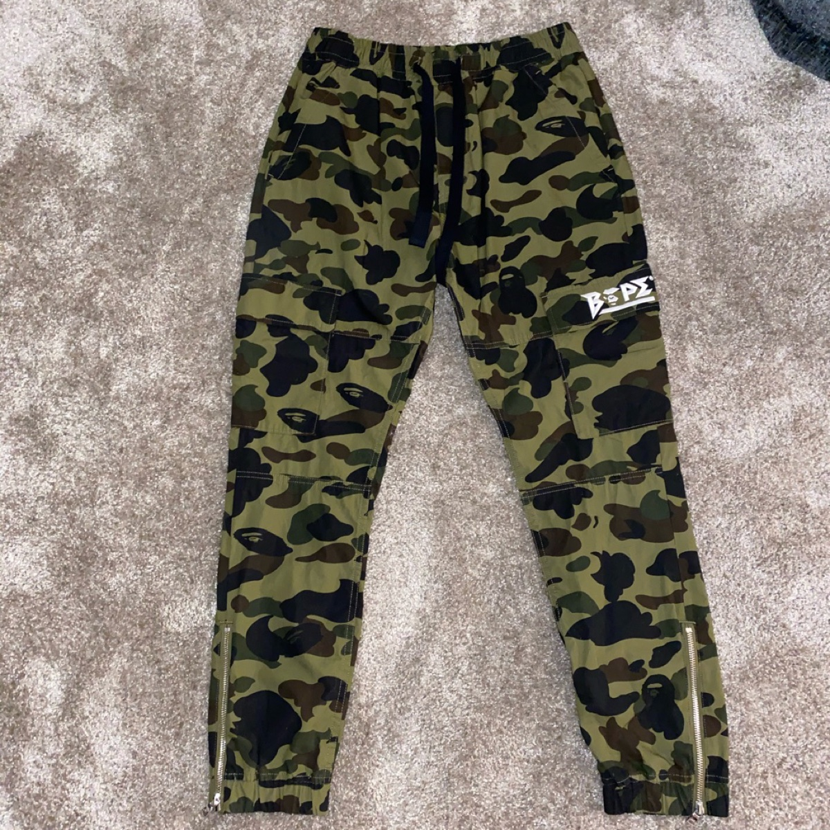 A Bathing Ape Cargo Trousers Green
