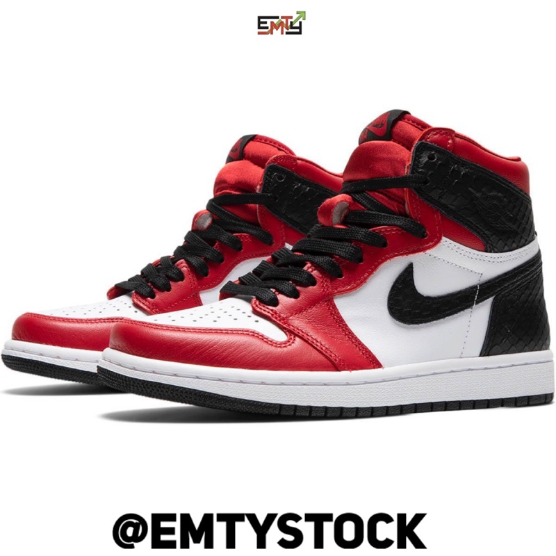 Nike Air Jordan 1 High Satin Red 'Snake' (W)