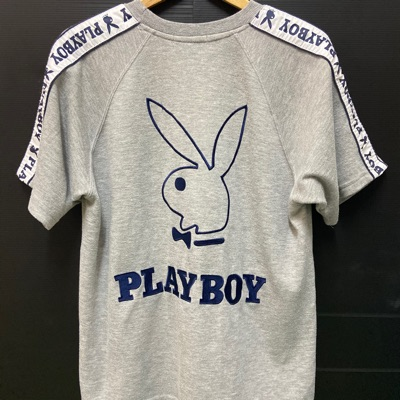 Playboy Embroidery Big Logo Spell Out Sidetape Tee