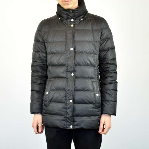 Vintage Tommy Hilfiger quilted puffer jacket windbreaker in black