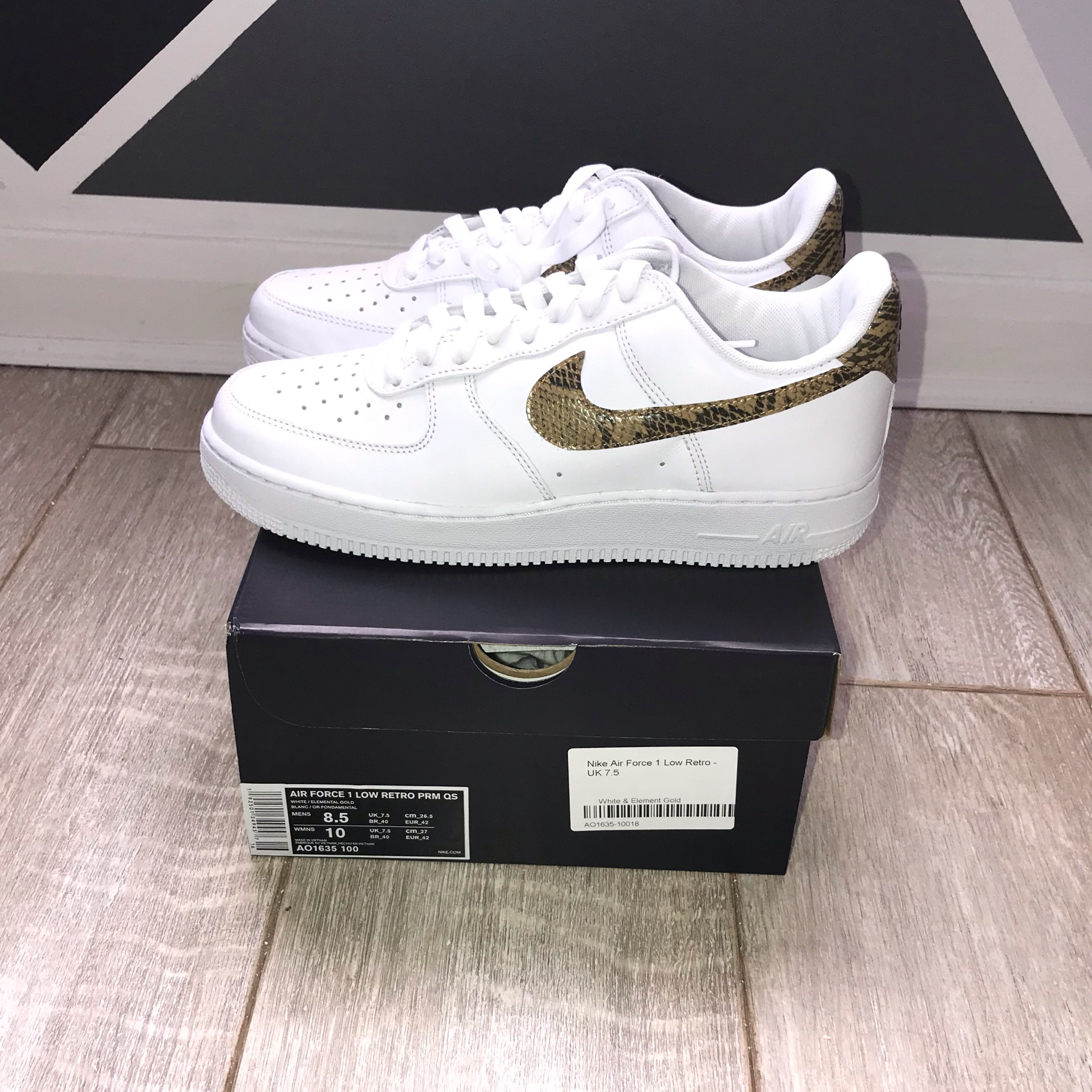 Nike Air Force 1 Low Retro Ivory Snake (2019)