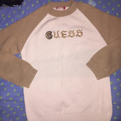 Vintage Guess Sweater Long Sleeve T Shirt 666 Rare