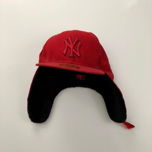 New York Ny Mlb Hat With Wool Ear Flaps