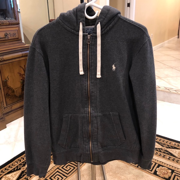 Polo Ralph Lauren Dark Grey Zip Hoodie