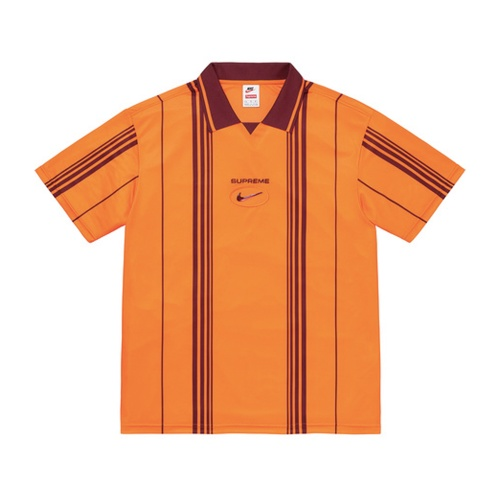 Supreme/Nike Jewel Stripe Soccer Jersey Orange/Red