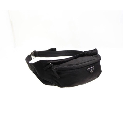 Prada Nylon Black Logo Waist Bag