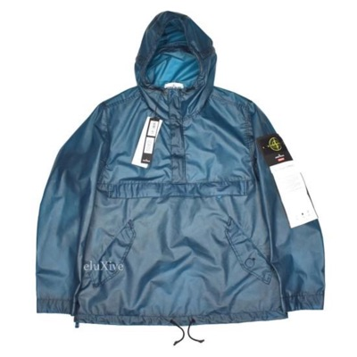 Supreme X Stone Island Teal Poly Cover Anorak Fw17