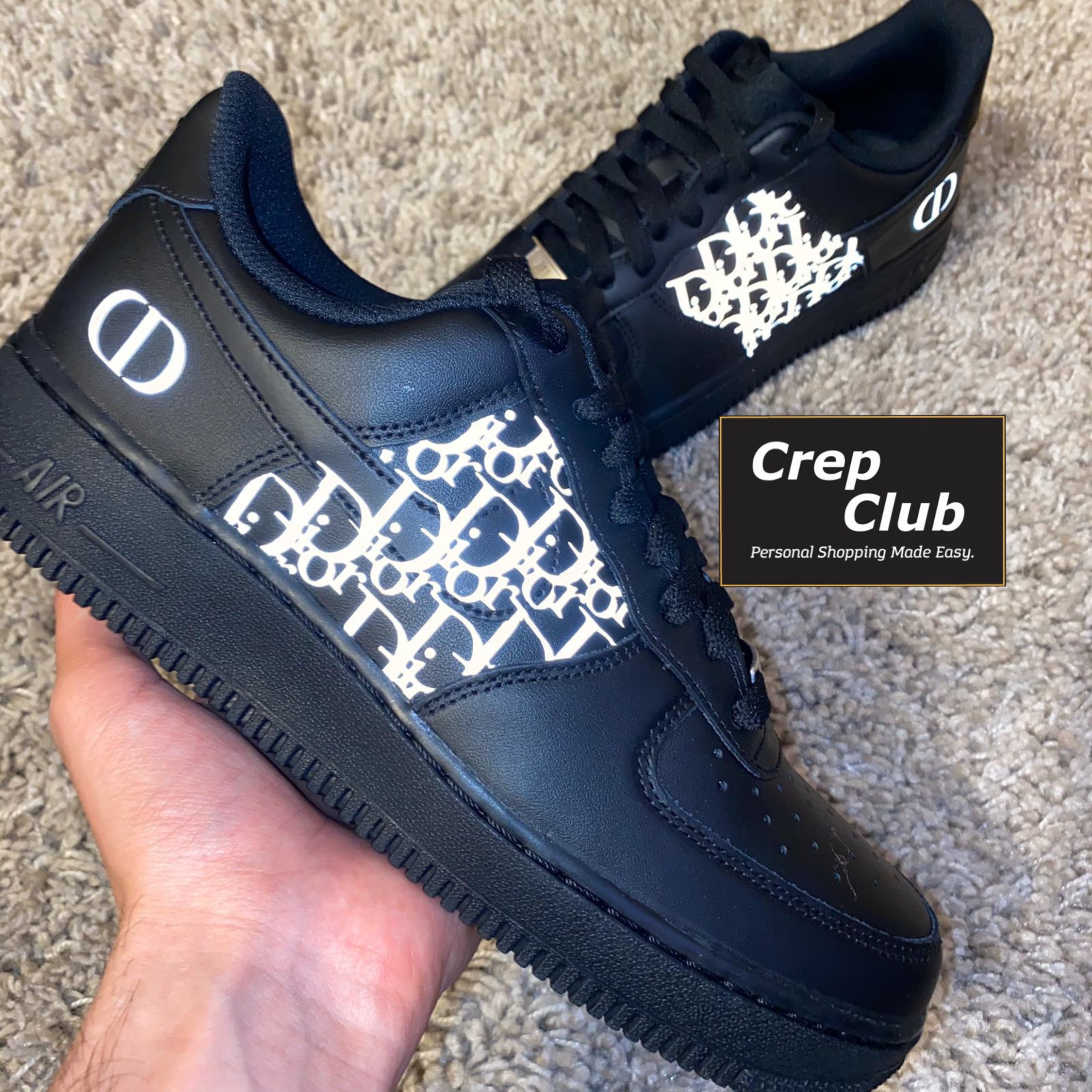 Nike Air Force 1 Custom Dior Black