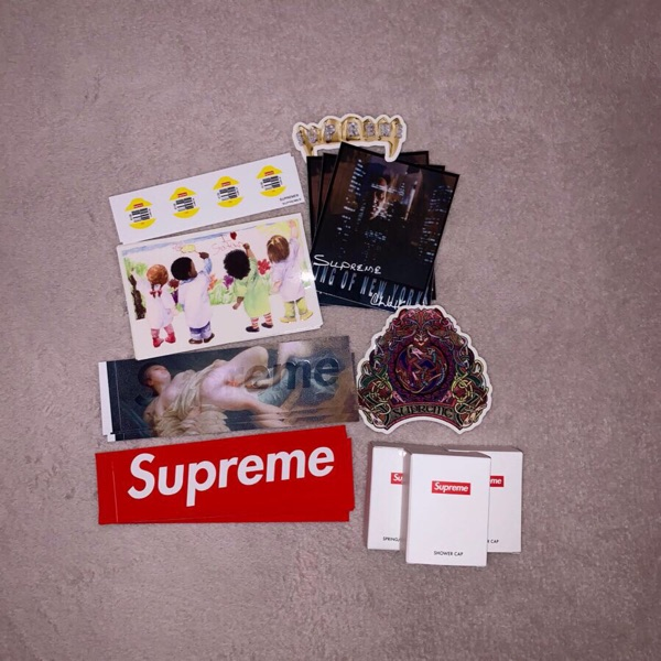 Supreme Stickers Shower Cap