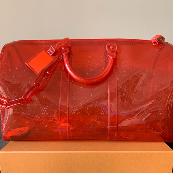 Louis Vuitton Keepall Prism Red
