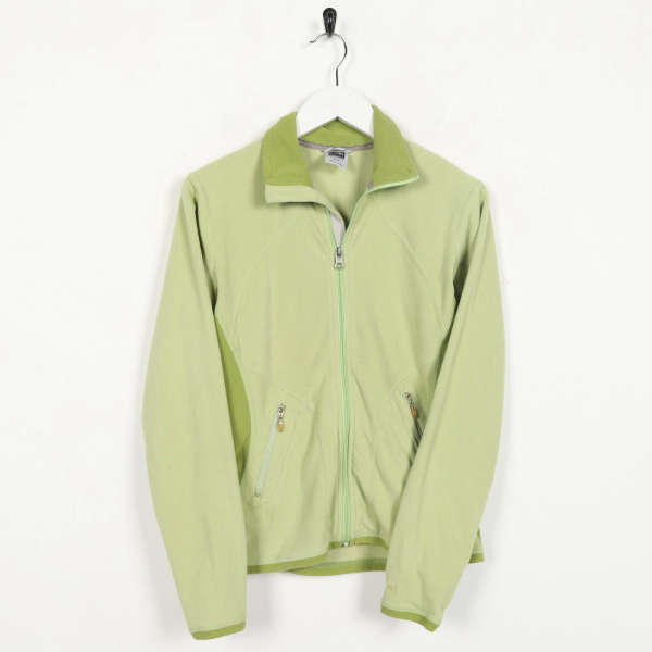 Vintage Women's THE NORTH FACE Zip Up Fleece Top Green | XS