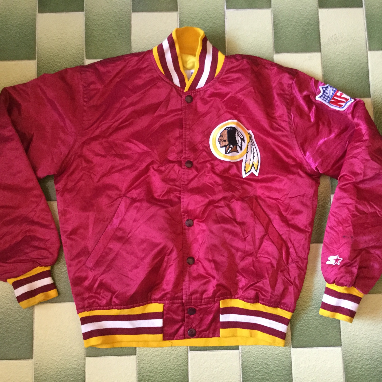 buy online fb181 a6c36 Vintage Washington Redskins Proline Starter Jacket