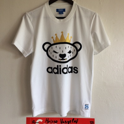 Adidas Nigo Bear 25 Crown Tee White T-Shirt Top S