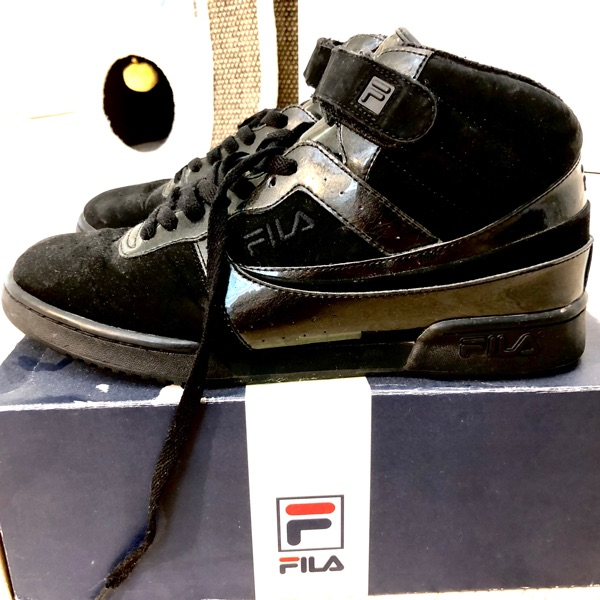 Fila High-Top Triple Black Sneaker