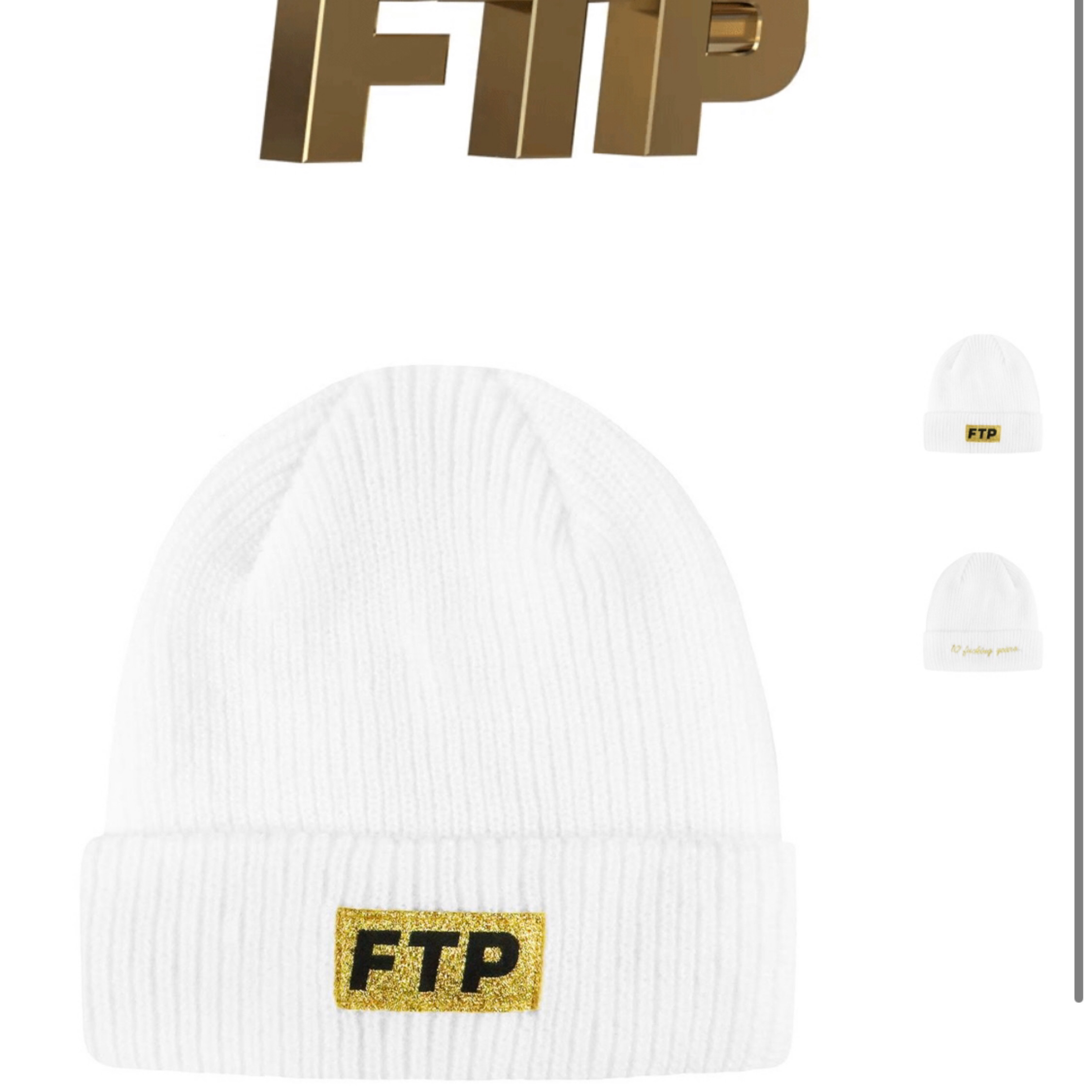Ftp 10 Year Logo Beanie White