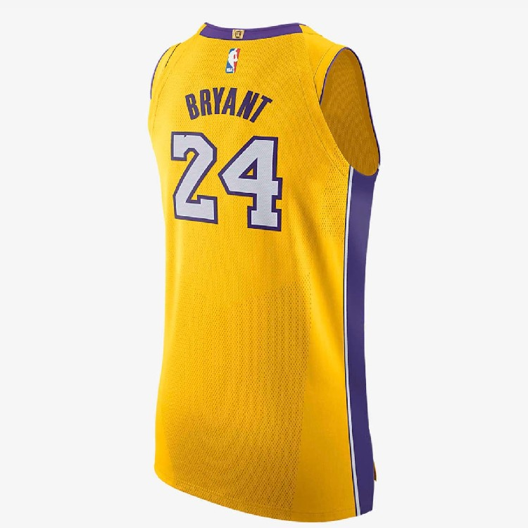 Los Angeles Lakers Nike Icon Authentic Jersey Kobe Bryant Mens