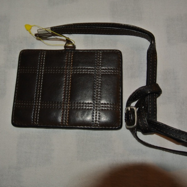Paul Smith Lugage Brown Leather Strap Card Holder