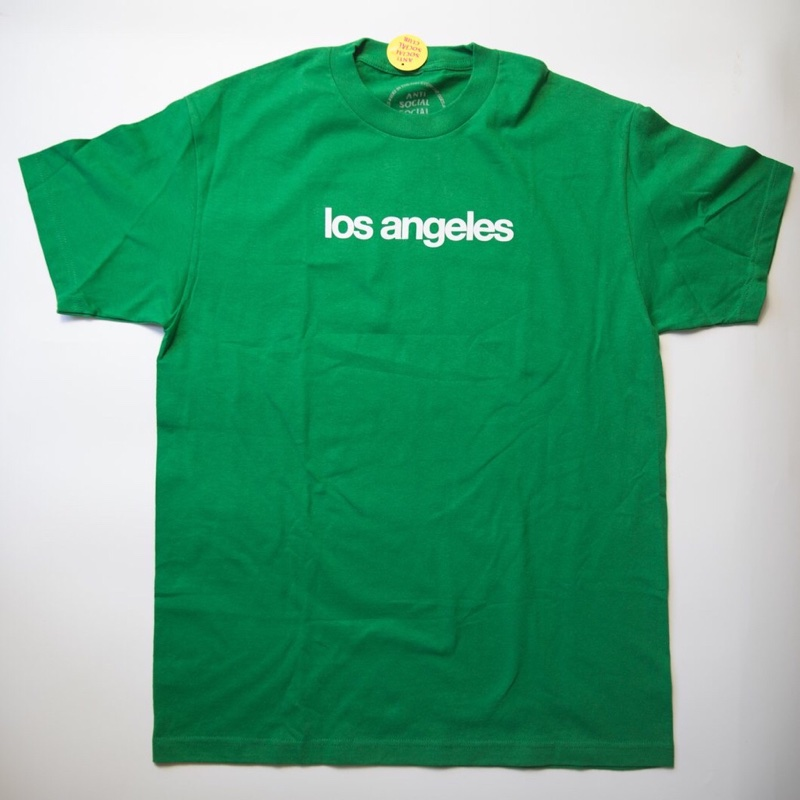 "Anti Social Social Club ""Los Angeles"" City Tee green (L / Mint)"