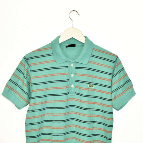 Vintage Lacoste t-shirt top blouse tee in turquoise