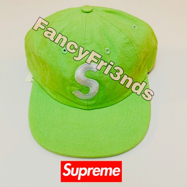 Supreme Watched Chambray S Logo 6-Panel Green