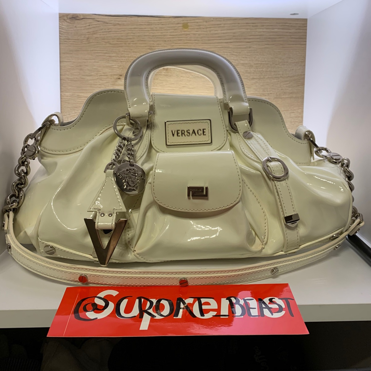 Versace Off White Vintage Hand Bag