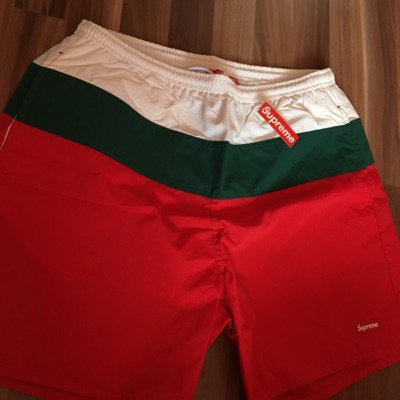 Supreme Split Logo Swim Shorts Gucci