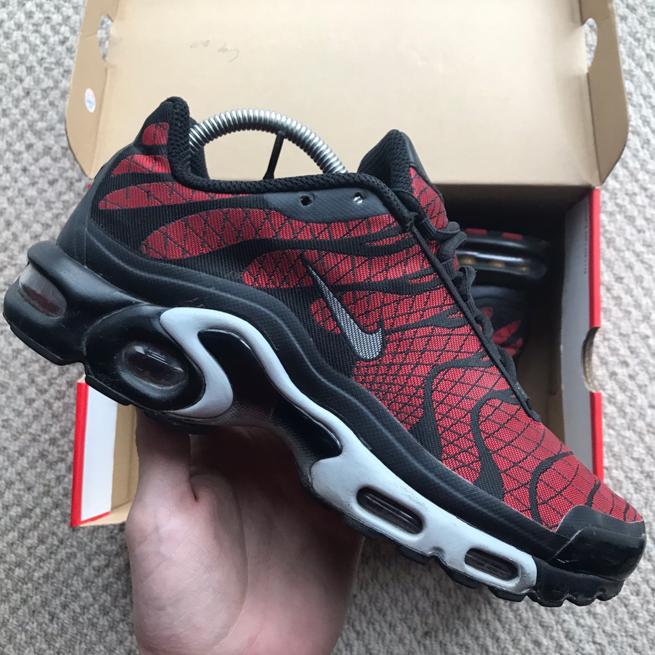 Nike Air Max Tn Tuned Red Black White Trainers