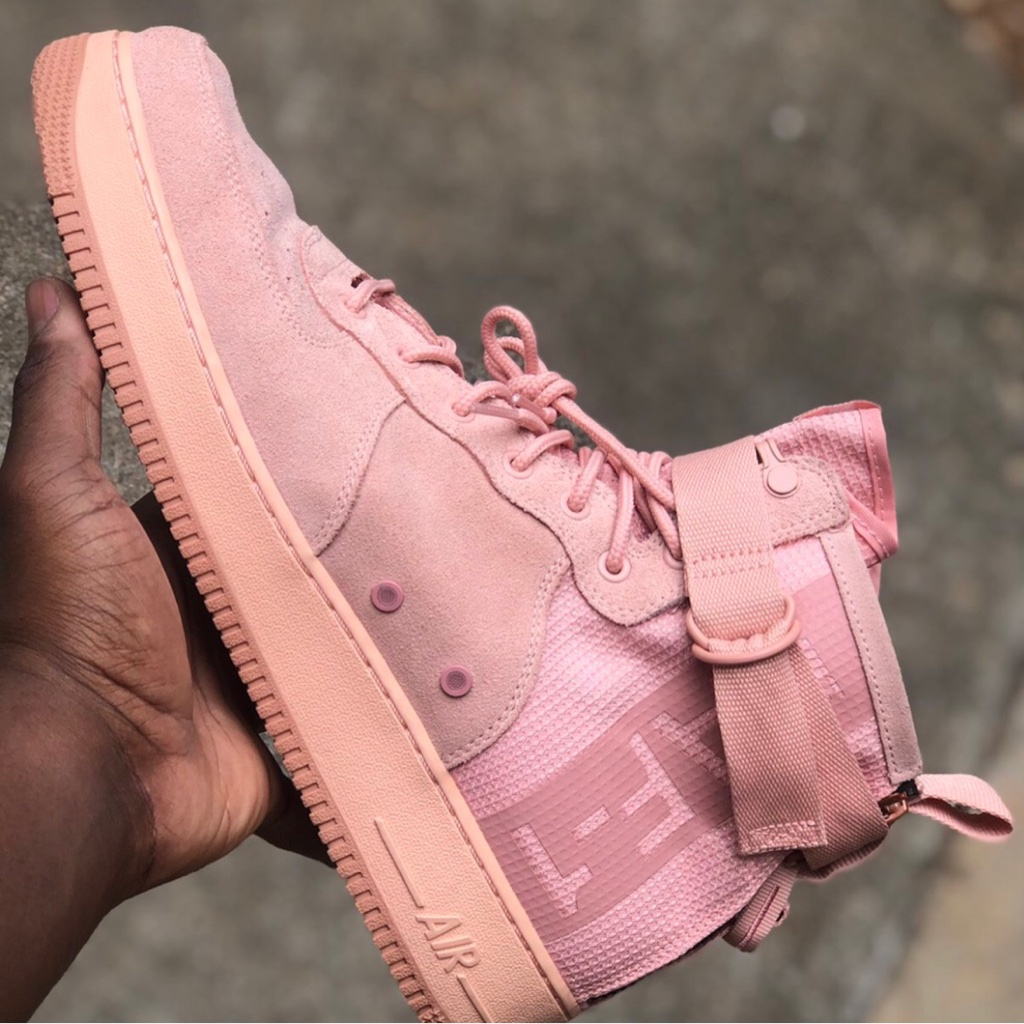 Nike SF Air Force 1 Mid Coral Stardust