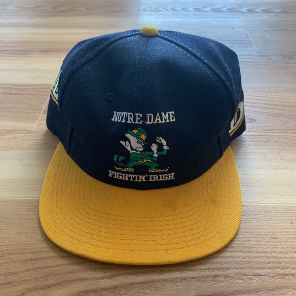 Norte Dame All Embroidered Hat Vintage.