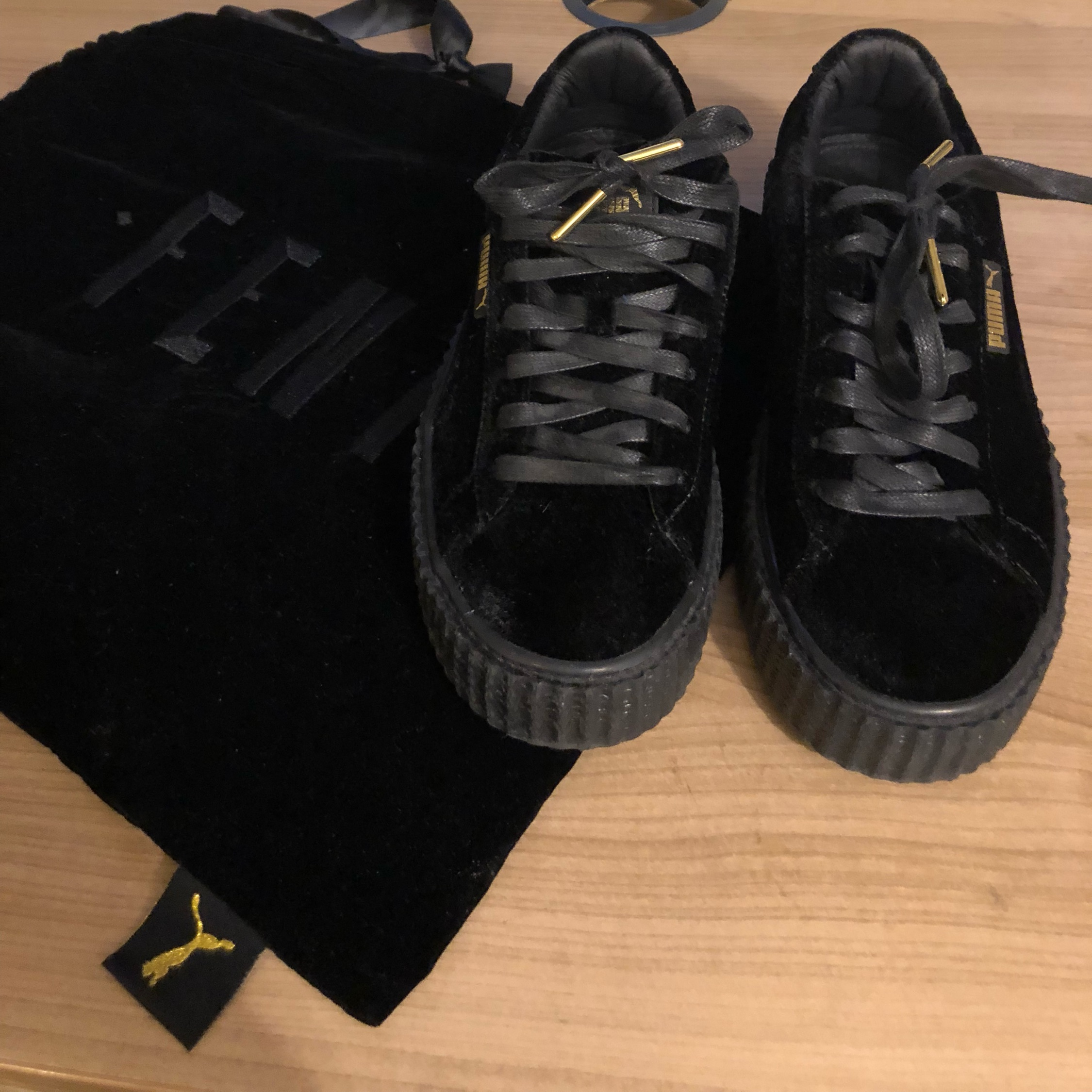 new product 5889f 8f34d Puma X Fenty - Velvet Black Creepers