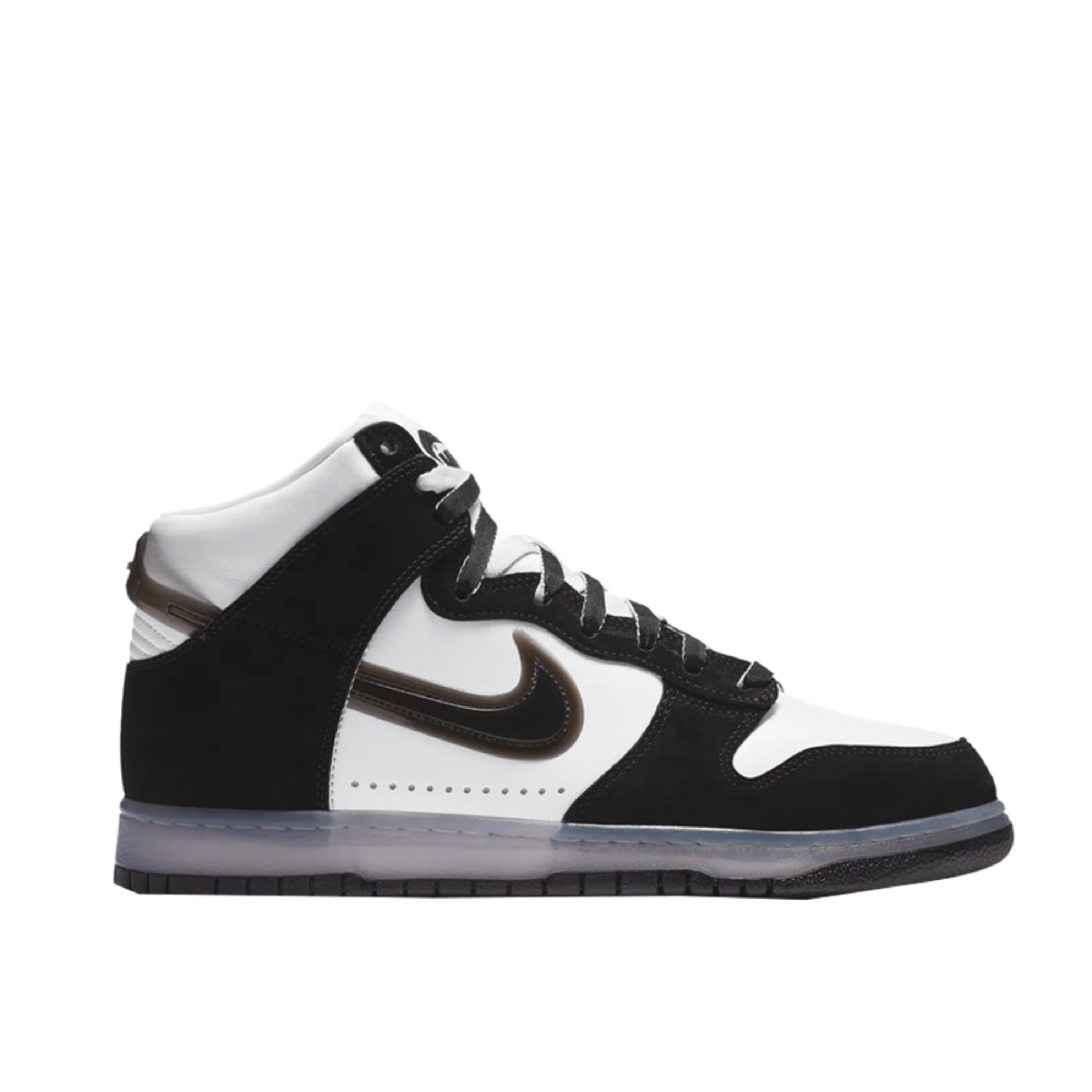 Slam Jam x Nike Dunk High White Black