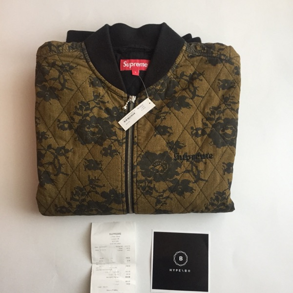 Supreme Quilted Lace Bomber Jacket