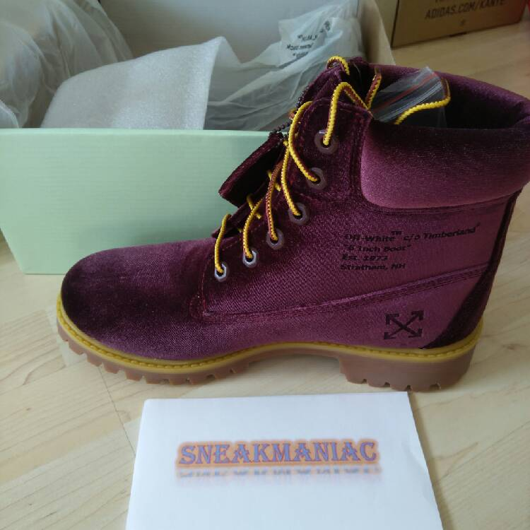Timberland x Off White 6 inch Boots Bordeaux