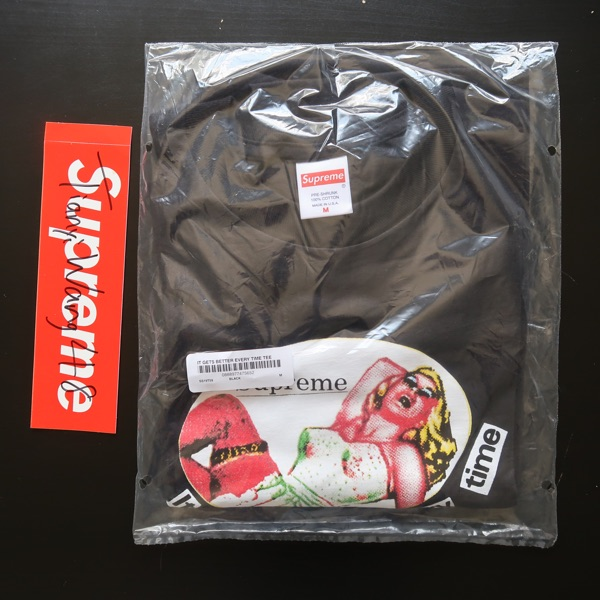 Supreme It Gets Better Every Time Tee Black Medium