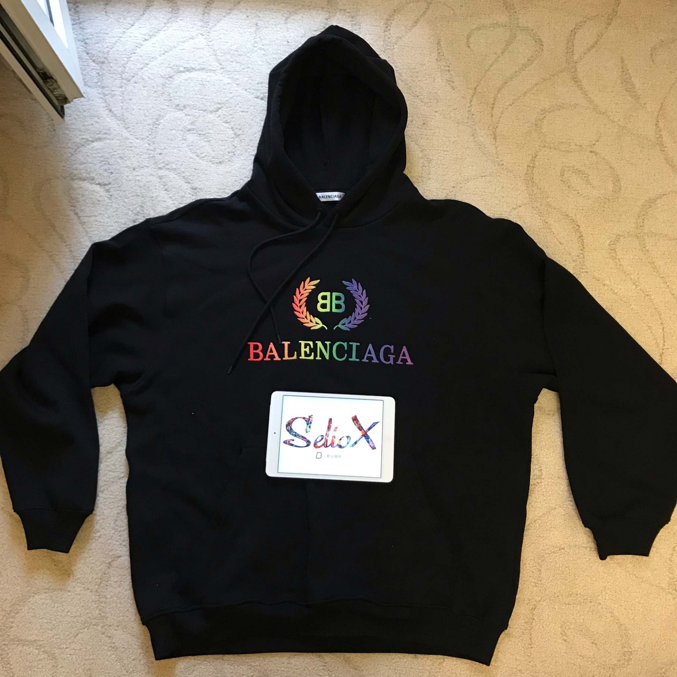 outlet online retail prices performance sportswear Balenciaga Rainbow Hoodie Size M Fit L (Oversize)