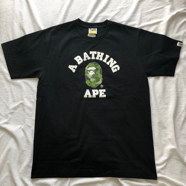 Bape Splinter Camo College Tee Black/Olive