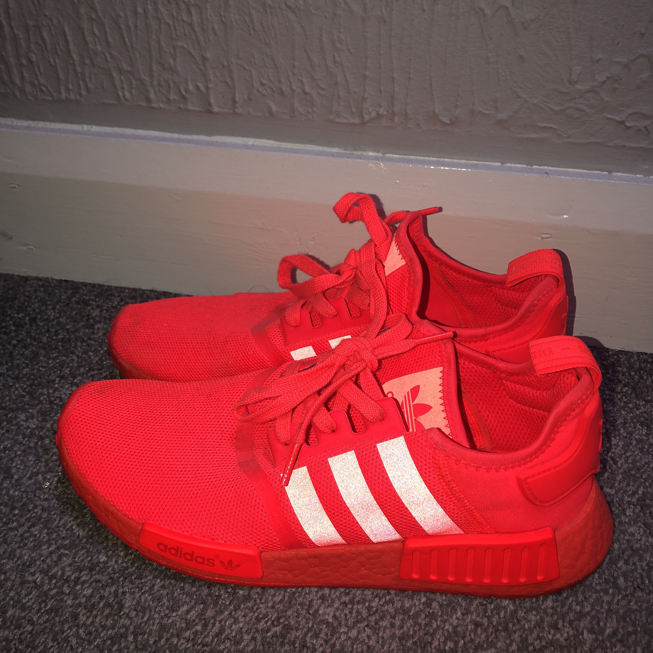buy popular 7574b ca31d Adidas Nmd Reflective Orange Red Men's Shoes
