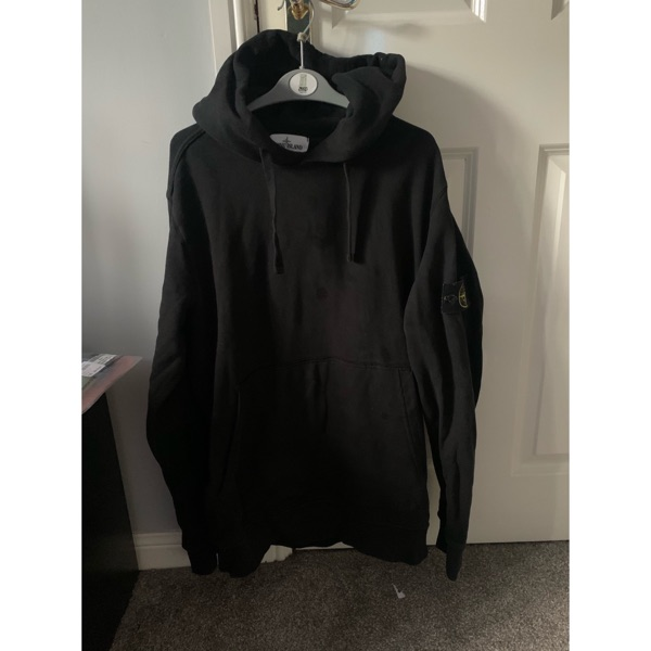 Stone Island Garment Dyed Pullover Hoodie