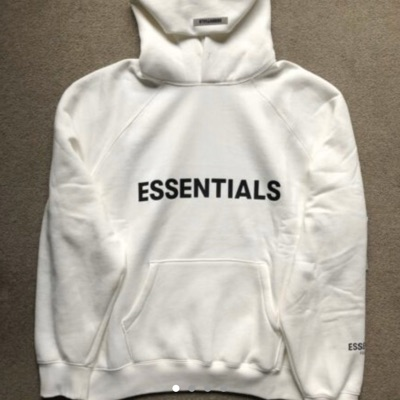 Essentials White Hoodies Oversized Fit Ss20
