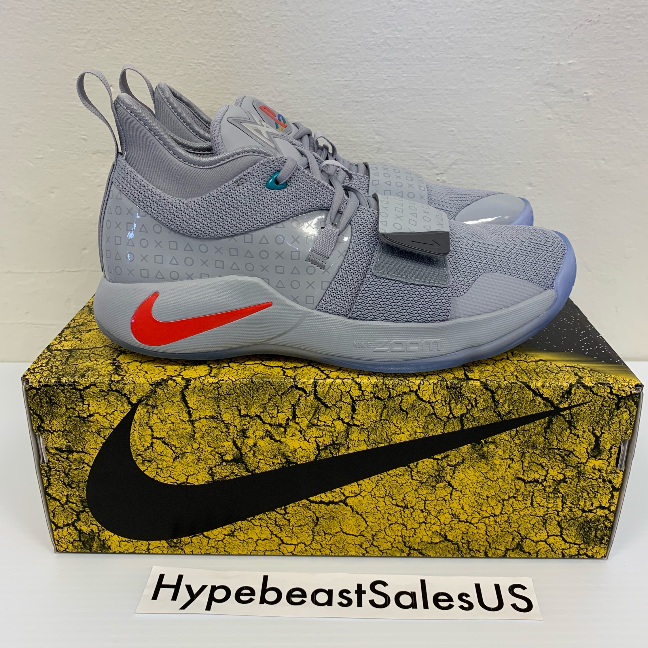 finest selection 47c88 73166 Nike Pg 2.5 Playstation Wolf Grey
